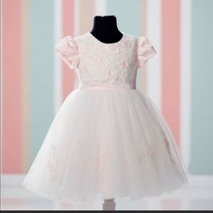 JOAN CALABRESE**Pink Flower Girl Dress 6 mo. $130